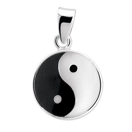 Zilveren hanger Yin-Yang