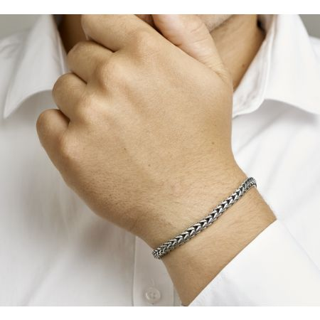 Zilveren mannen armband