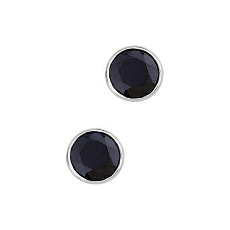 Oorbellen van zilver 8mm