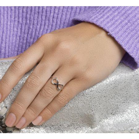 Zilveren infinity ring