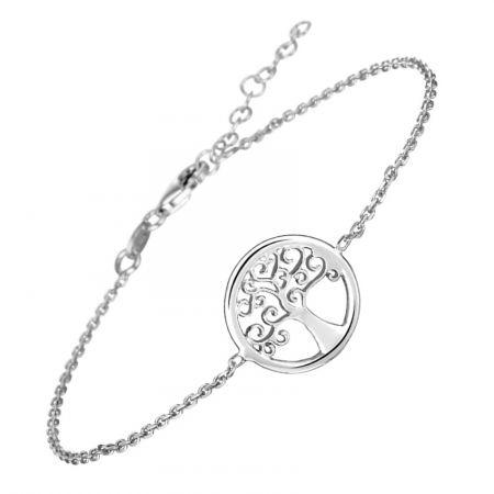Zilveren armband tree of life 17 + 3 cm