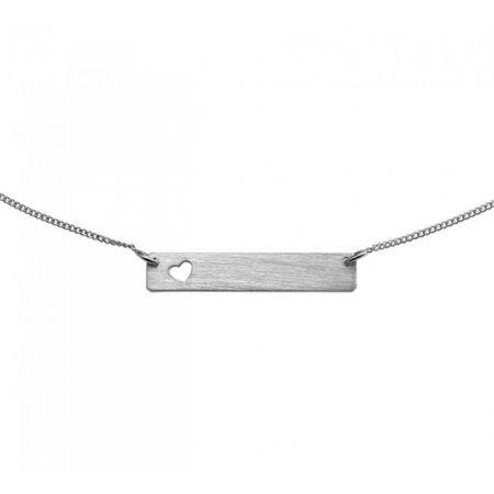 Zilveren Graveer Hanger/Ketting met Hartje