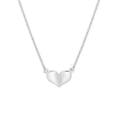 Zilveren  collier met hart