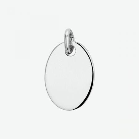 Zilveren Graveer Hanger ovaal
