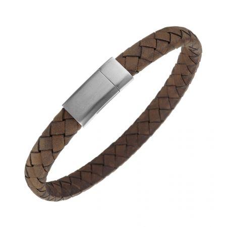 Soepele leren armband - Graveerbaar