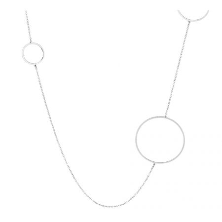Lange Edelstalen ketting 90 cm