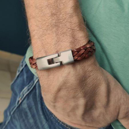 Leren armband met leergravure