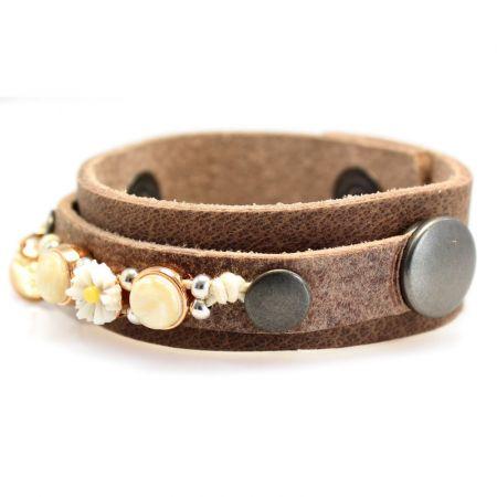 Leren armband -Sari-S