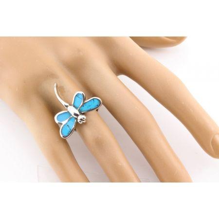 Zilveren Ring Libelle