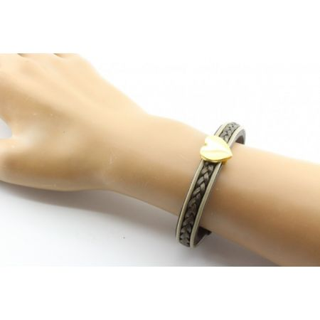 Lederen armband - met gegraveerd hart