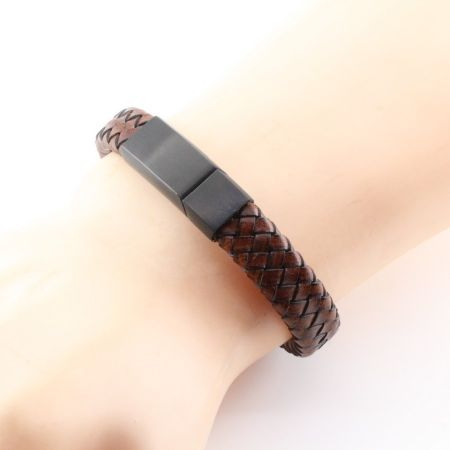 Graveerbare leren armband