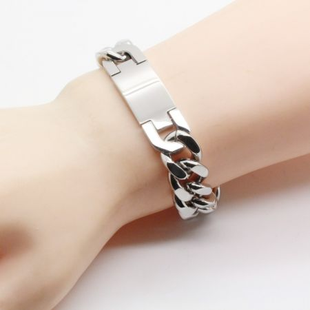 Stalen Graveer Armband