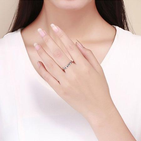 Zilveren Ring met Pootjes