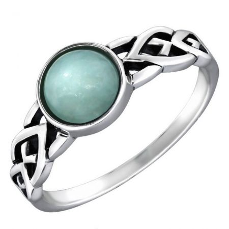 Zilveren ring met amazonite steen