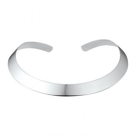 Zilveren spang collier