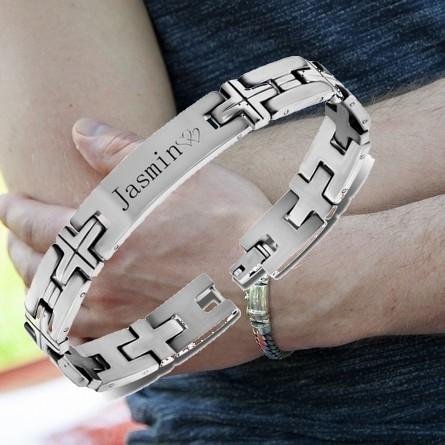 RVS armbanden met tekst