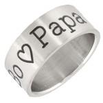 ring met tekst